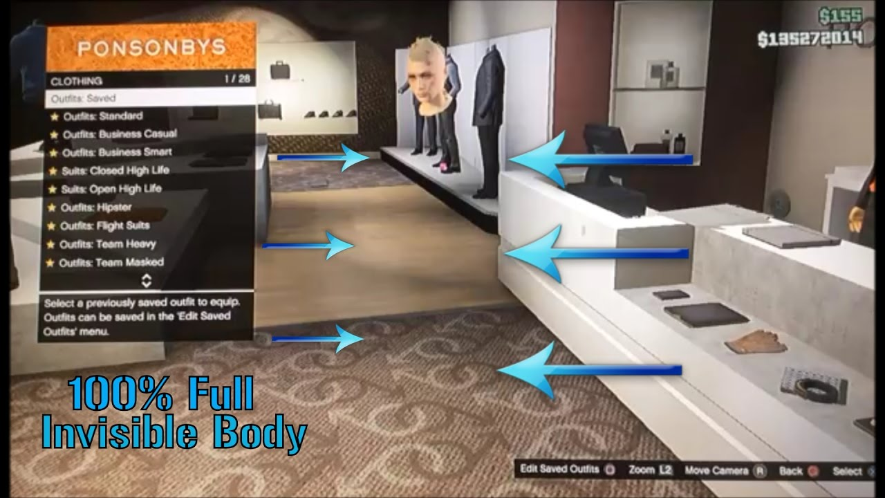 fully invisible body glitch in gta 5 online 2017 ps3 xbox360 youtube. Black Bedroom Furniture Sets. Home Design Ideas