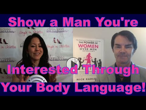Body language of women interested in men