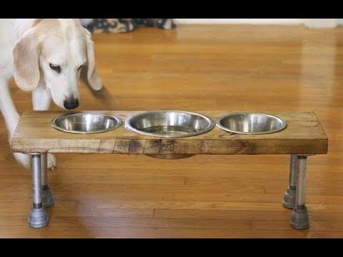 Как сделать подставку для собачьих мисок фото 223