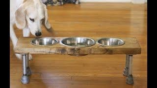 Как сделать подставку для собачьих мисок своими руками