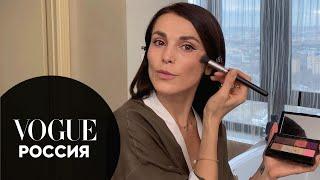 Сати Казанова показывает многоступенчатый уход и макияж глаз Vogue Россия