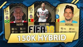 INSANE 150K HYBRID w/ IF QUARESMA + SIF TALISCA! FIFA 18 SQUAD BUILDER