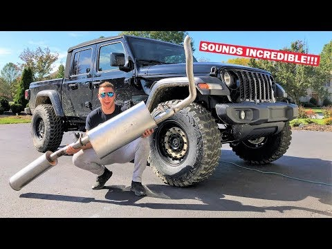 I STRAIGHT PIPED My Brand New $40,000 JEEP GLADIATOR With a Sawzall... Sounds EXACTLY Like a GTR!!!