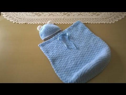 Cocoon, capullo o sobre de dormir con gorrito: Como tejerlo en ...