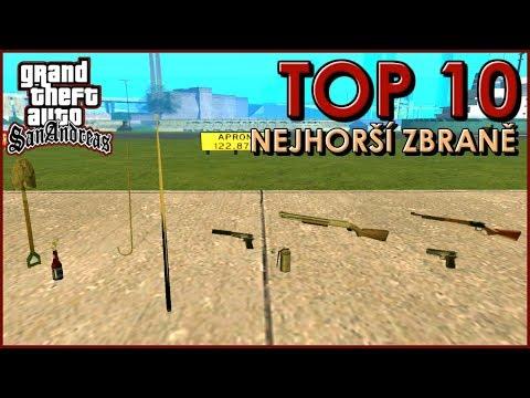 10 nejhorších zbraní v GTA San Andreas