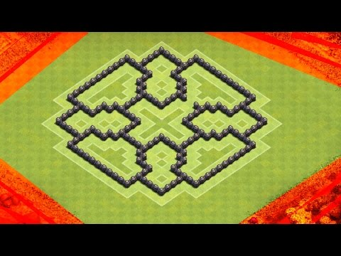 Clash Of Clans | BEST TH7 FARMING BASE | TRAPPED WALL PATTERNS
