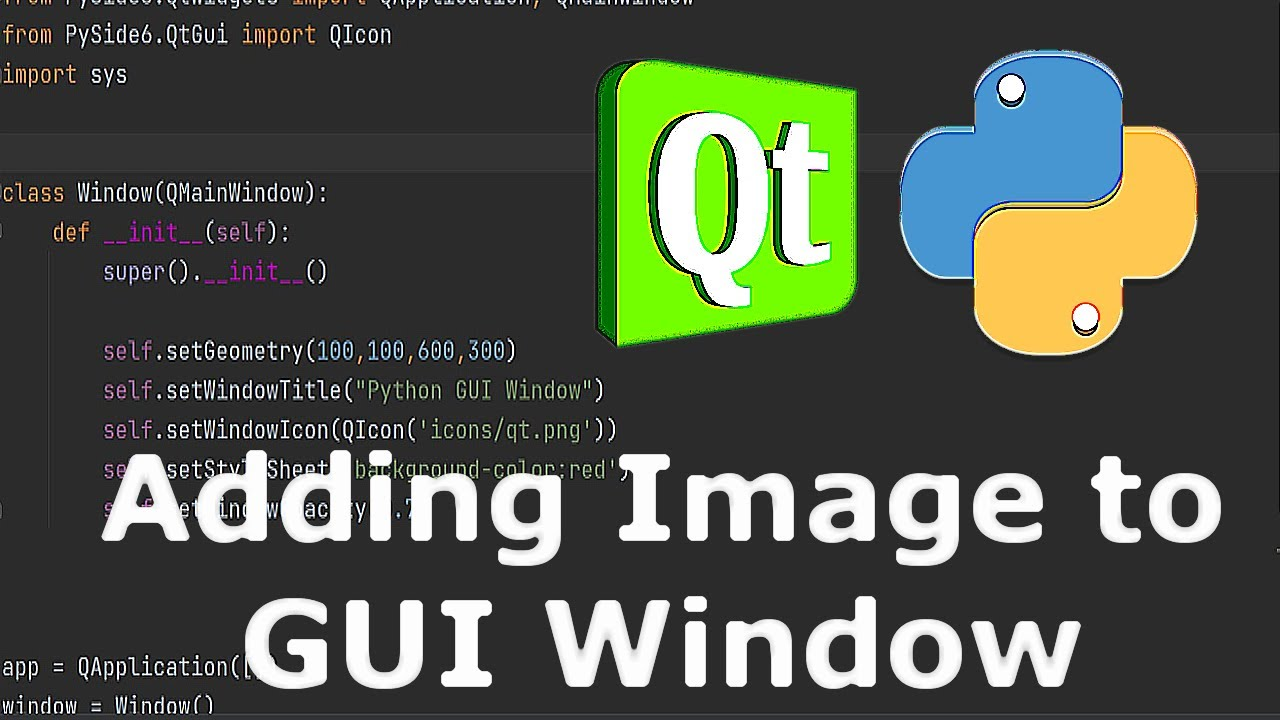 Python GUI Adding Image to PySide6 Window