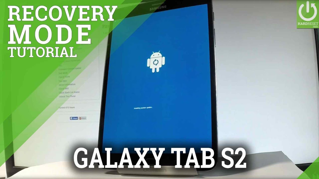 Recovery Mode SAMSUNG Galaxy Tab S2 - Enter / Exit Recovery Mode