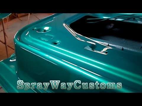 Turquoise Car Spray Paint