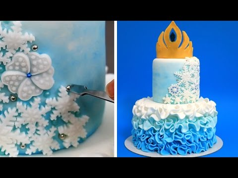 Thumbnail: Elsa Crown Cake - How To Make White Modeling Chocolate by CakesStepbyStep