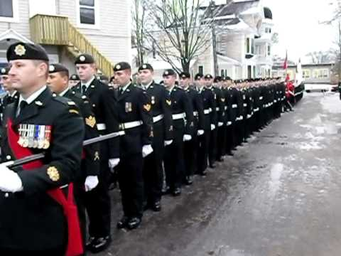 The Canadian Army marches for the opening of the New