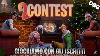 Fortnite ITA 🔴 Christmas Contest, LAST DAY, skin and v bucks - Let's play with subscribers