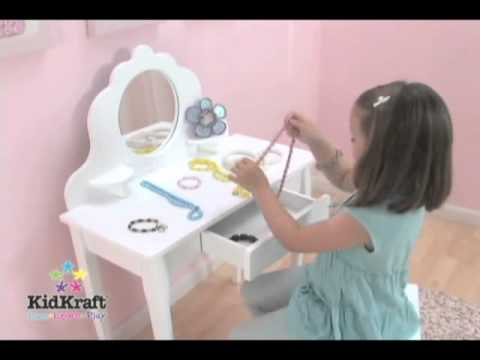bureau maquillage pour enfant kidkraft sur docteurdiscount. Black Bedroom Furniture Sets. Home Design Ideas