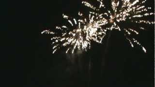 Feux d'artifices du 14 juillet 2012 à Granges sur Vologne dans les Vosges