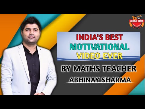 India's Best Motivational Video Ever By Maths Teacher Abhinay Sharma 😲 | Abhinay Maths