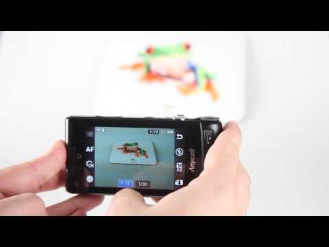 Samsung W880 AMOLED 12M camera UI video demo