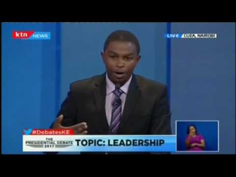 Muthiora Kiriara shares his bid with Kenyans at the Presidential Running Mates Debate