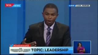 Muthiora Kiriara shares his bid with Kenyans at the Presidential Running Mates Debate