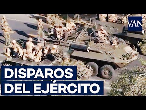 El Ejército Chileno Reprime Una Manifestación Con Disparos