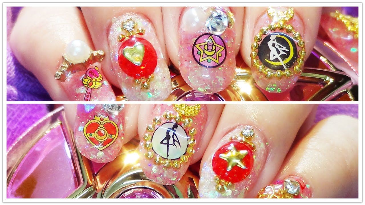 Sailormoon Nail Art Easy Gel