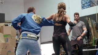 Halle Berry training for