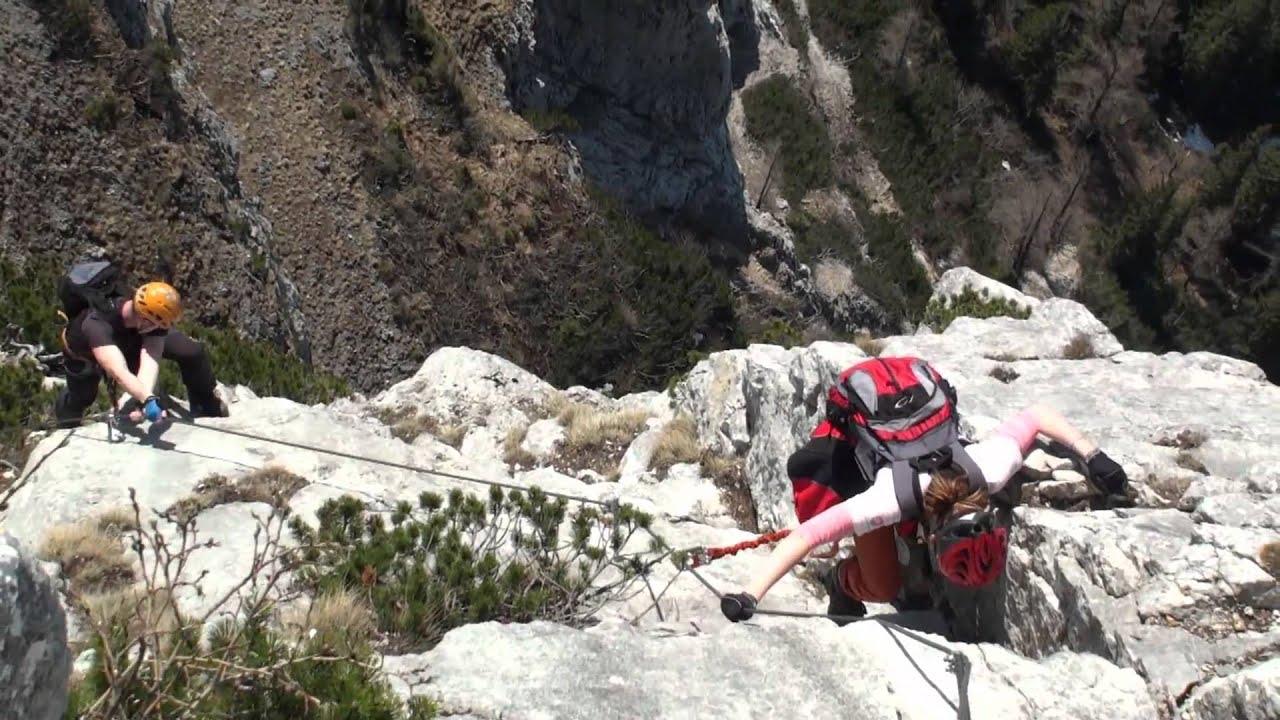 Eisenerzer Klettersteig : Eisenerz klettersteig april 2011 youtube
