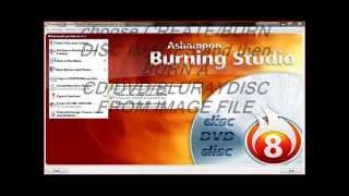 How to burn image file(.ISO,CUE/BIN) using ashampoo burning studio