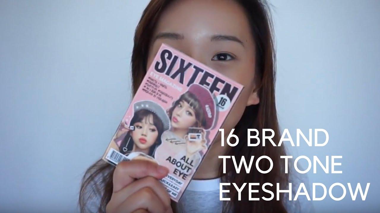 Chosungah 16 Brand Magazine Eye Shadow Try On Lockkey Beauty Youtube Sixteen