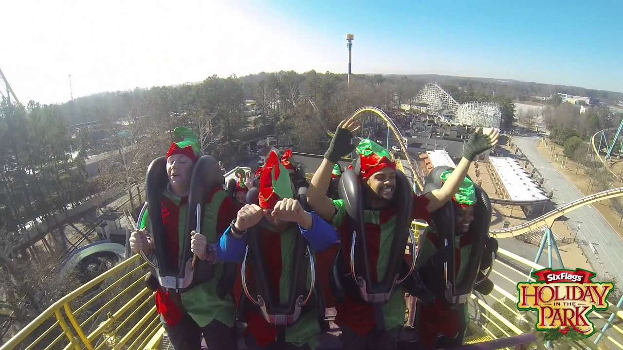 Six Flags Over Georgia, Holiday in the Park: Elves on a Coaster ...