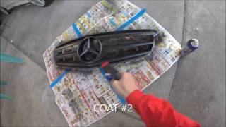 PlastiDip Mercedes C300 Pt.2 Gloss Black Grille + DRLs