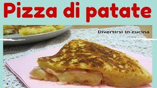 Ricetta Pizza di patate in padella ❤️ Divertirsi in cucina