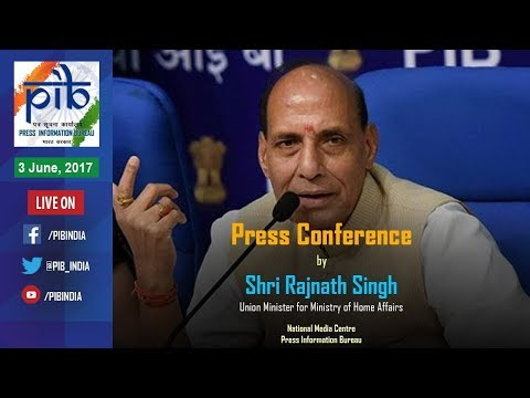 Press Conference by Union Home Minister Rajnath Singh on Key Initiatives of Ministry of Home Affairs