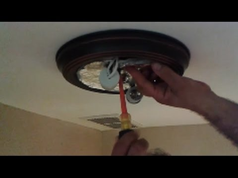 How To Install A New Ceiling Light Fixture- Step By Step- D I Y