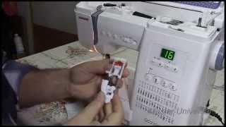 Как правильно сделать петлю для пуговици на швейной машинке JanomeQC2325.Часть7.Видео №14.