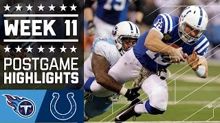 Titans vs. Colts (Week 11) | Game Highlights | NFL