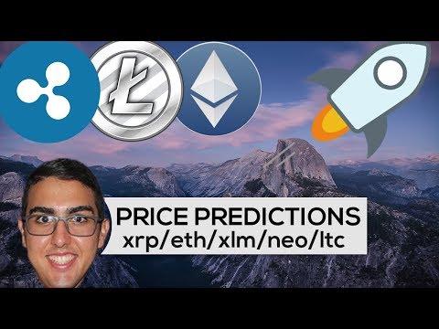 Price Predictions: Ripple ($XRP), Ethereum ($ETH), Stellar ($XLM), NEO ($NEO), & Litecoin ($LTC)!
