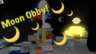 HOW TO COMPLETE THE MOON OBBY |beeswarm simulator| ROBLOX