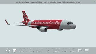 [HD] Infinite Flight Air Asia A320. Multiplayer. ATC. Takeoff at KNUC