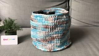 Tunisian Crochet Basket (In The Round)