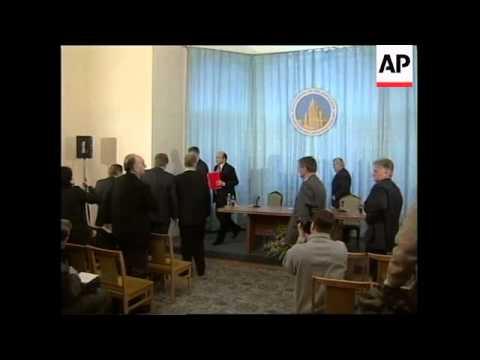 RUSSIA: IGOR IVANOV PRESS CONFERENCE