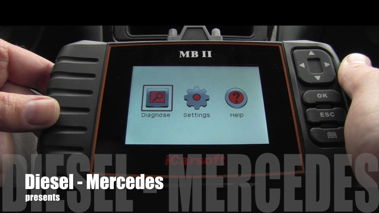 mercedes icarsoft mb ii automatic scan youtube. Black Bedroom Furniture Sets. Home Design Ideas