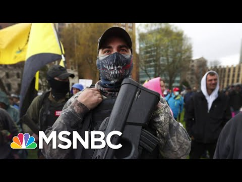 Frontline Doctor In Michigan Responds To Armed Protesters At State Capitol | The Last Word | MSNBC