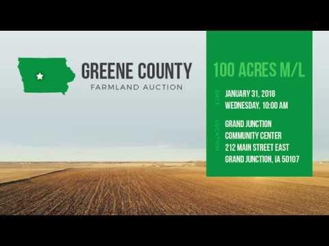 100 Acres m/l Greene County Iowa Land Auction
