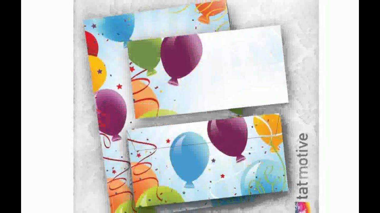 luftballon einladung - youtube, Einladung
