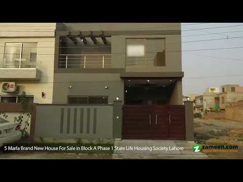 BRAND NEW BEAUTIFUL HOUSE FOR SALE IN HEART OF STATE LIFE SOCIETY BLOCK A LAHORE
