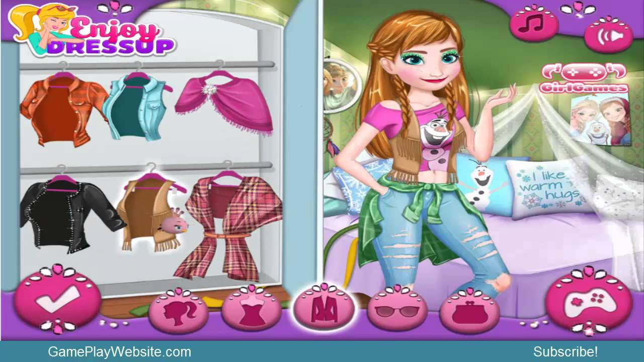Modern Frozen Sisters Makeover And Dress Up Online Game