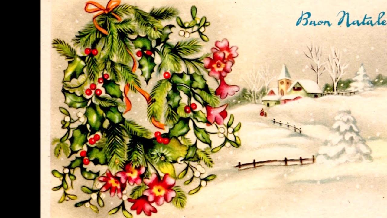 Immagini Cartoline Di Natale.Il Natale Cartoline Di Auguri Natalizi Degli Anni 50 E 60 Addobbi Per L Albero In Vetro