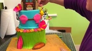 Making A Luau Cake!