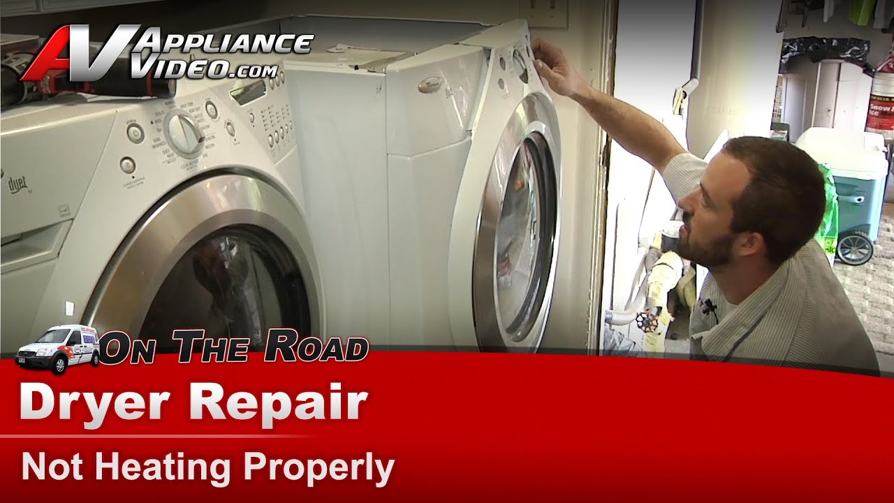 dryer repair diagnostic not heating whirlpool maytag roper sears kenmore amana [ 1280 x 720 Pixel ]