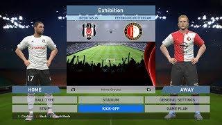 Besiktas JK vs Feyenoord Rotterdam, BJK Vodafone Park, PES 2016, PRO EVOLUTION SOCCER 2016, Konami